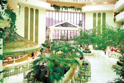 Inside The Atrium At The Guayarmina Princess Hotel